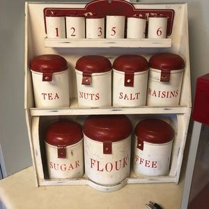 1940's canister set